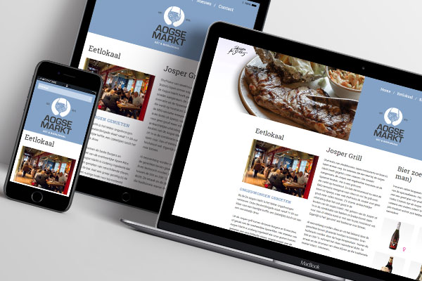 Ontwerp Enzo | Website Aogse Markt